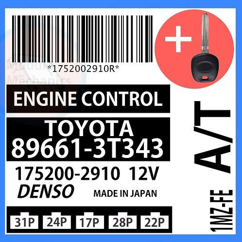 89661-3T343 W/ Programmed Master Key Toyota Camry