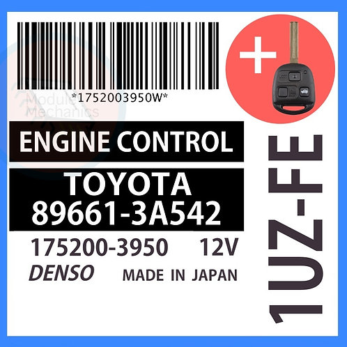 89661-3A542 OEM ECU W/ Programmed Master Key Lexus GS400