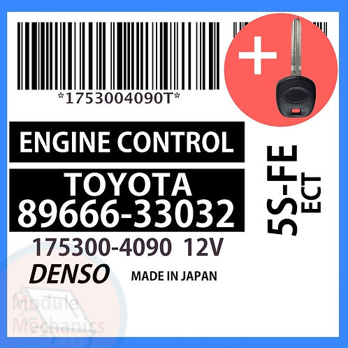 89666-33032 W/ Programmed Master Key Toyota Camry