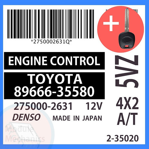 89666-35580 OEM ECU W/ Programmed Master Key Toyota 4Runner