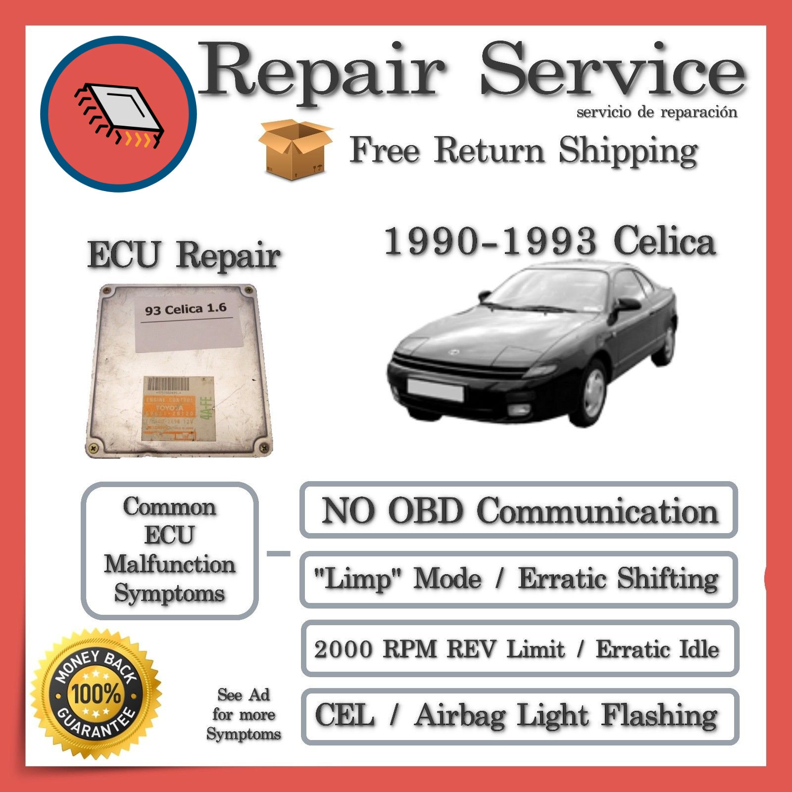 1990 Toyota Celica Engine Computer Ecu Repair Service