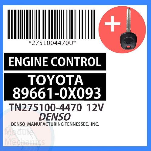 89661-0X093 W/ Programmed Master Key Toyota Solara