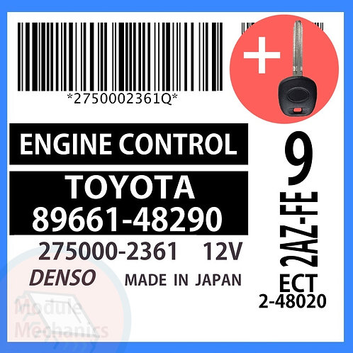 89661-48290 ECU W/ Programmed Master Key Toyota Highlander