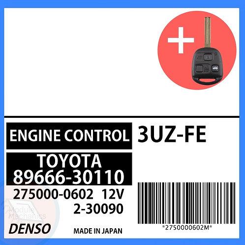 89666-30110 OEM ECU W/ Programmed Master Key Lexus GS430