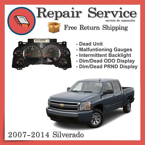 2014 Chevrolet Silverado Gauge Cluster Repair Service