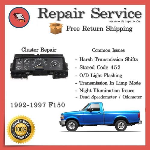 1992-1997 Ford F150 F250 F350 (PSOM) Gauge Cluster Repair Service