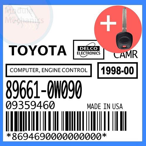 89661-0W090 W/ Programmed Master Key Toyota Camry