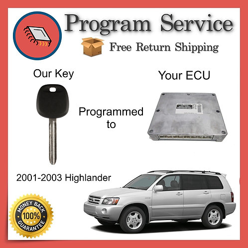 2001-2003 Toyota Highlander ECU to Key Programming Service