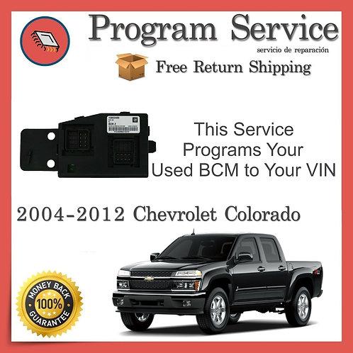 2004-2012 Chevrolet Colorado BCM VIN Program Service