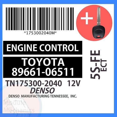 89661-06511 W/ Programmed Master Key Toyota Camry