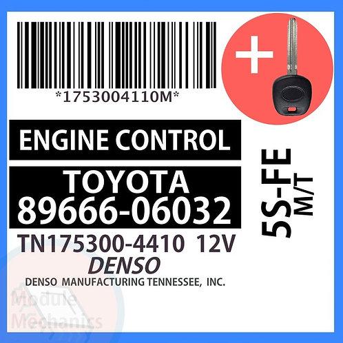 89666-06032 ECU W/ Programmed Master Key Toyota Camry