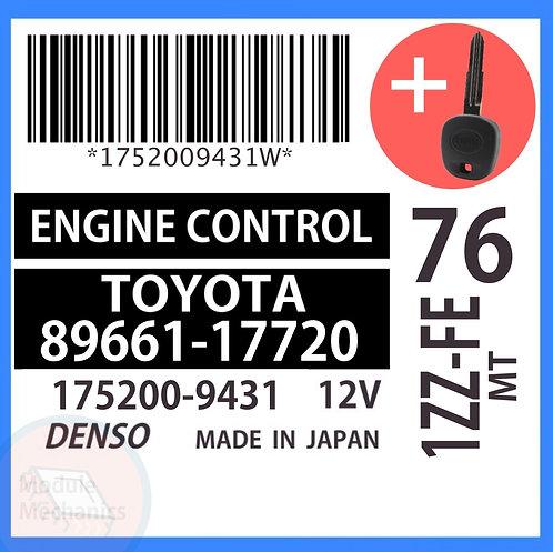 89661-17720 OEM ECU W/ Programmed Master Key Toyota MR2