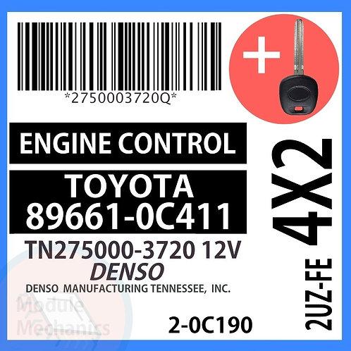 89661-0C411 ECU W/ Programmed Master Key Toyota Sequoia