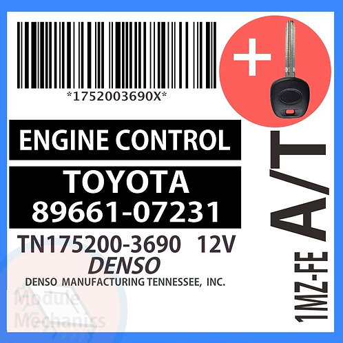 89661-07231 W/ Programmed Master Key Toyota Avalon