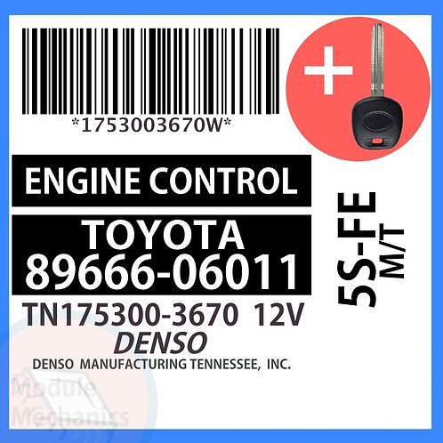 89666-06011 W/ Programmed Master Key Toyota Camry