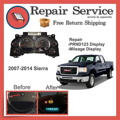 2007-2014 GMC Sierra Gauge Cluster Repair Service