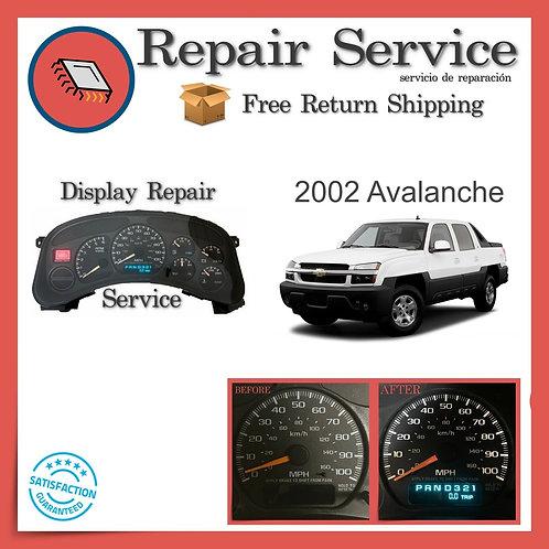 2002 Chevrolet Avalanche Gauge Cluster Repair Service