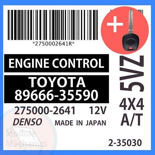 89666-35590 OEM ECU W/ Programmed Master Key Toyota 4Runner