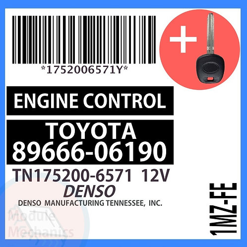 89666-06190 ECU W/ Programmed Master Key Toyota Camry