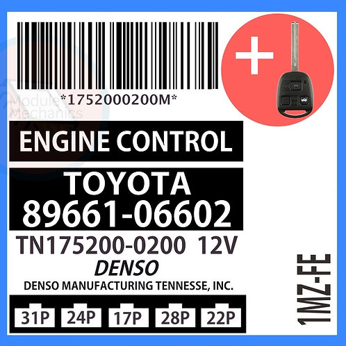 89661-06602 OEM ECU W/ Programmed Master Key Lexus ES300