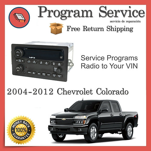 2004-2012 Chevrolet Colorado Radio VIN Program Service