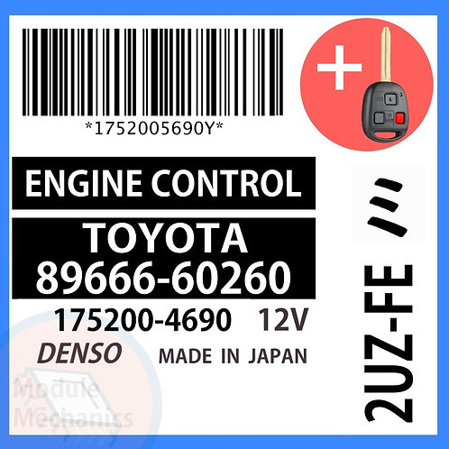 89666-60260 OEM ECU W/ Programmed Master Key Lexus LX470