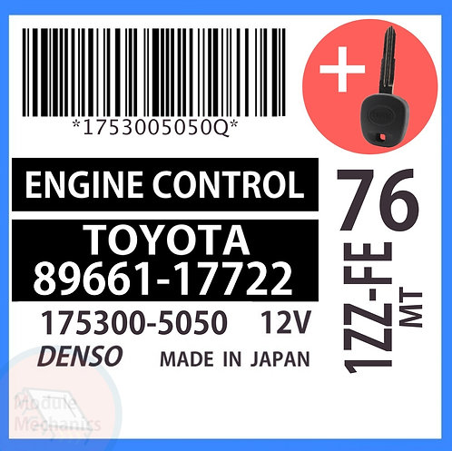 89661-17722 OEM ECU W/ Programmed Master Key Toyota MR2