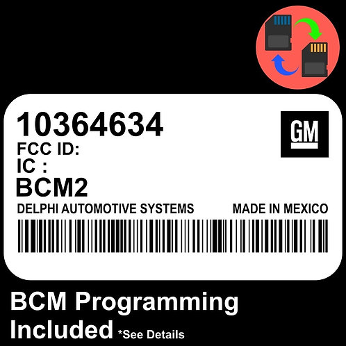10364634 W/ PROGRAMMING Chevrolet Colorado BCM BCU Body Control Module