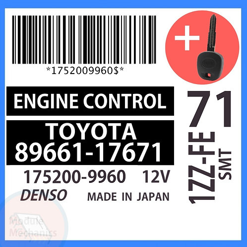89661-17671 OEM ECU W/ Programmed Master Key Toyota MR2