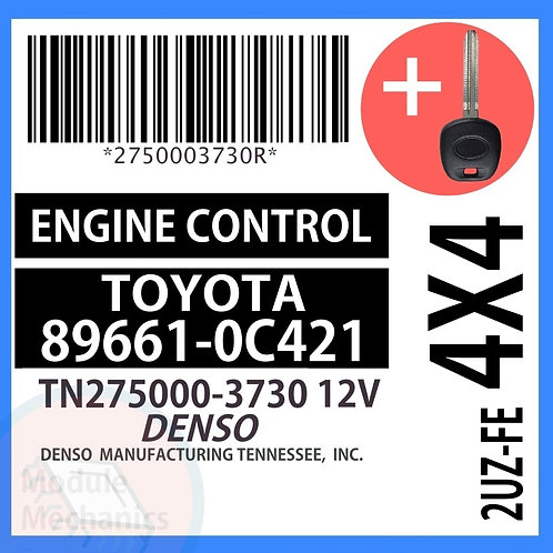 89661-0C421 ECU W/ Programmed Master Key Toyota Sequoia