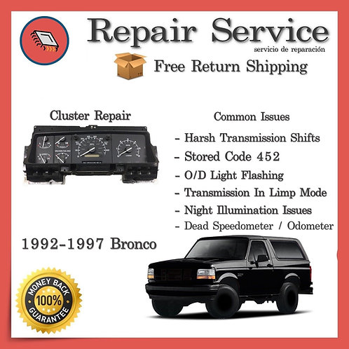 1992-1997 Ford Bronco (PSOM) Gauge Cluster Repair Service