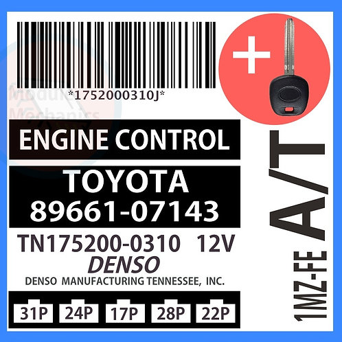 89661-07143 W/ Programmed Master Key Toyota Avalon