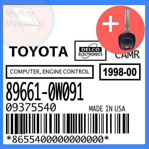 89661-0W091 W/ Programmed Master Key Toyota Camry