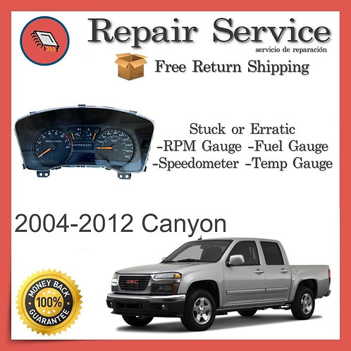 2004-2012 GMC Canyon Gauge Cluster Repair Service