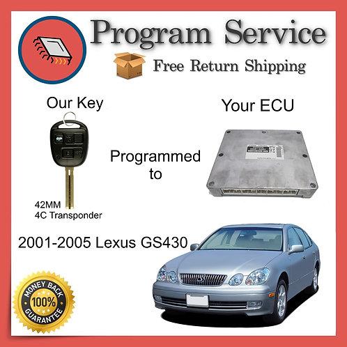 2001-2005 Lexus GS430 ECU to Key Programming Service