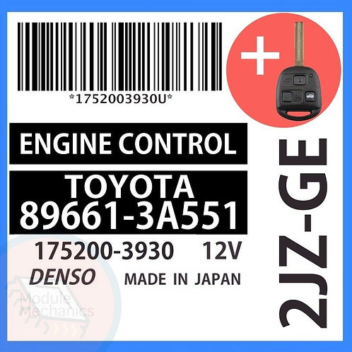 89661-3A551 OEM ECU W/ Programmed Master Key Lexus GS300