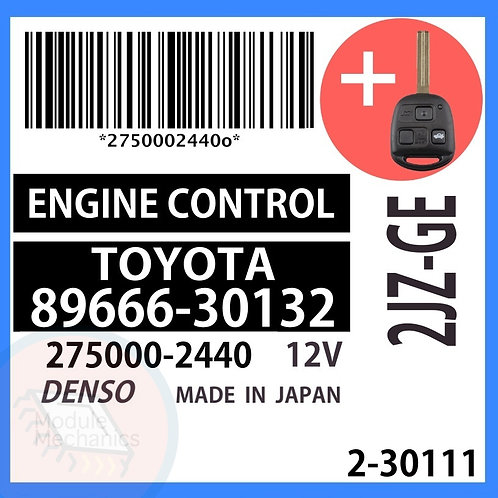 89666-30132 OEM ECU W/ Programmed Master Key Lexus GS300
