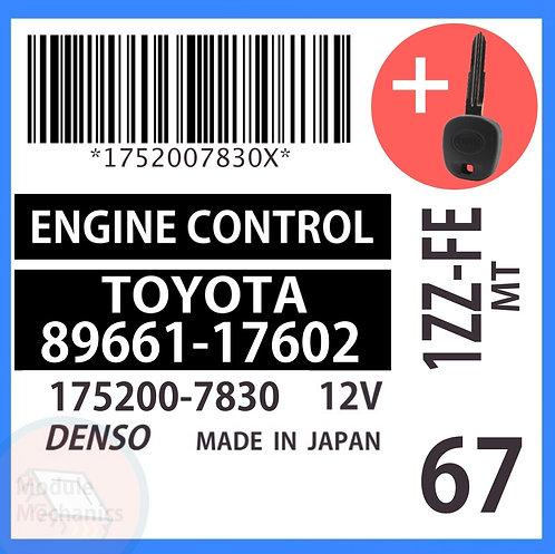89661-17602 OEM ECU W/ Programmed Master Key Toyota MR2