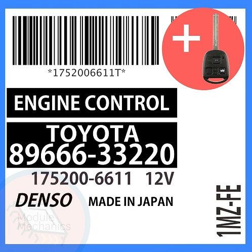 89666-33220 OEM ECU W/ Programmed Master Key Lexus ES300