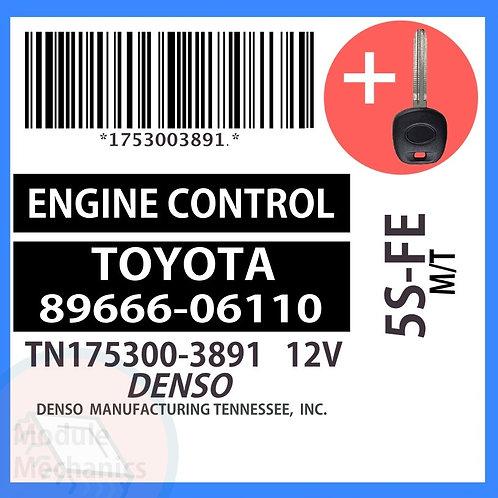 89666-06110 ECU W/ Programmed Master Key Toyota Camry