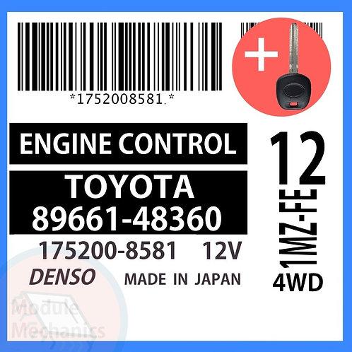 89661-48360 ECU W/ Programmed Master Key Toyota Highlander
