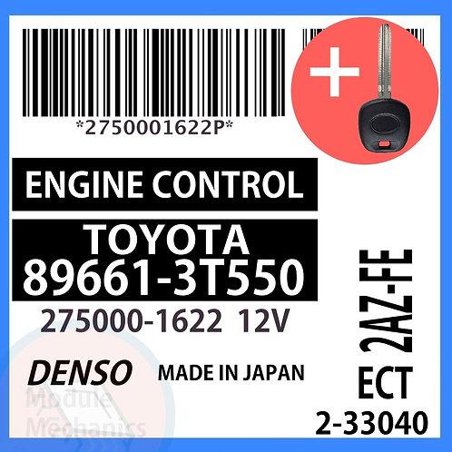 89661-3T550 W/ Programmed Master Key Toyota Camry