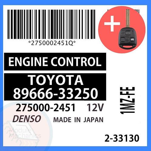89666-33250 OEM ECU W/ Programmed Master Key Lexus ES300