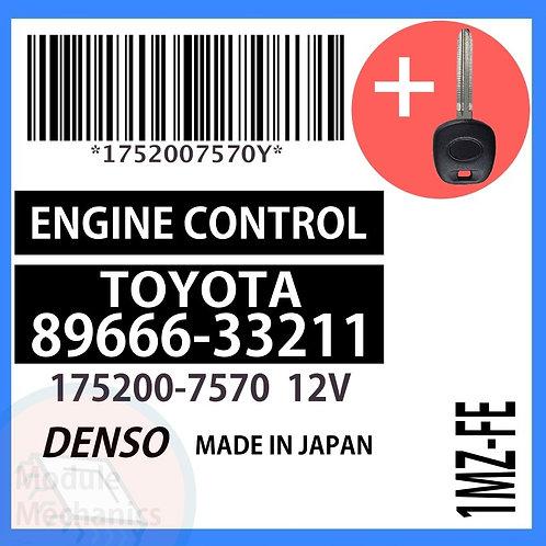 89666-33211 W/ Programmed Master Key Toyota Camry