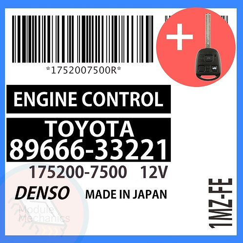 89666-33221 OEM ECU W/ Programmed Master Key Lexus ES300
