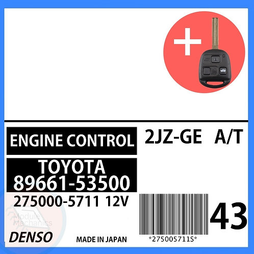 89661-53500 OEM ECU W/ Programmed Master Key Lexus IS300