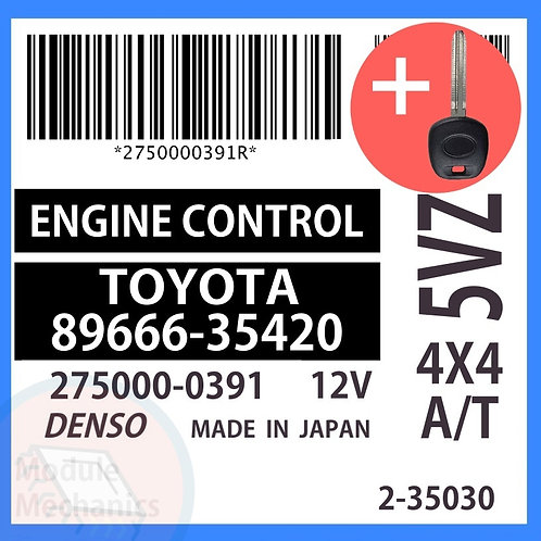 89666-35420 OEM ECU W/ Programmed Master Key Toyota 4Runner