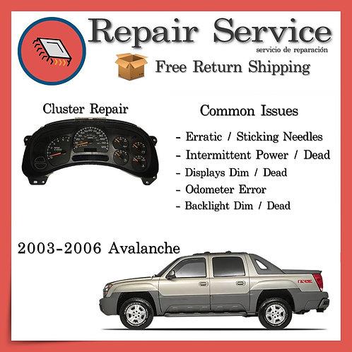 2003-2006 Chevrolet Avalanche Gauge Cluster Repair Service