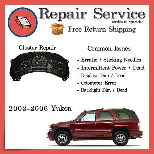2003-2006 GMC Yukon Gauge Cluster Repair Service