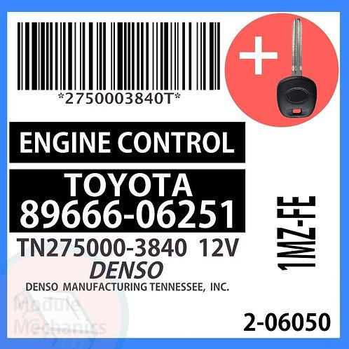 89666-06251 W/ Programmed Master Key Toyota Camry